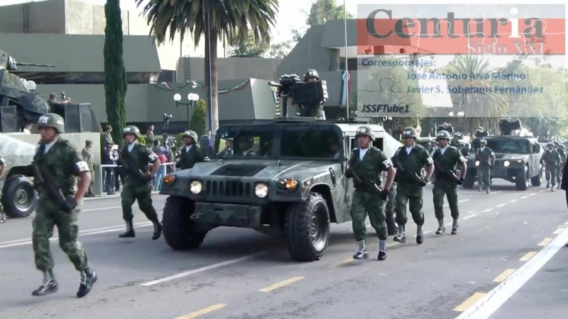 Военный парад в Мексике. 12.09.2011 г.