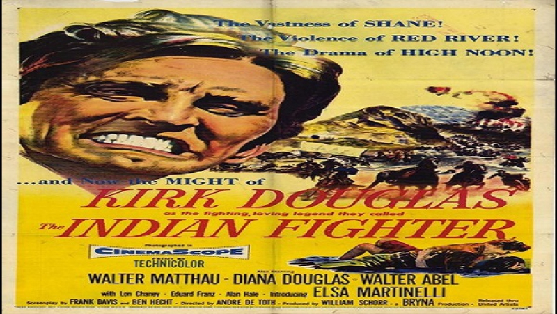 Il cacciatore di indiani--André De Toth-1955 – Kirk Douglas Elsa Martinelli Walter Matthau Diana Douglas Lon Chaney Jr.