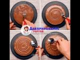 ТОП-6 самых простых способов украшения торта с помощью столовых приборов! / группа Декорирование тортов