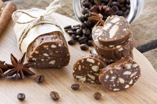 Шоколадная колбаска из детства