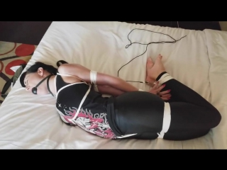 Nyxon Tied Up and Hogtied in Rope Bondage