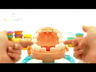 Пластилин Плей До мистер Зубастик, играем в стоматолога. Видео для детей - Серия 30