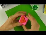 Оригами из бумаги - Кубик меняющий лицо - Поделки для детей