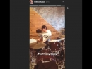 Tommy Lee tests drums #2 Brittany Furlan instagram (Motley Crue The Dirt - rehearsals) New Orleans, Louisiana
