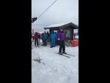 Когда вместе с друзьями впервые встали на сноуборды
