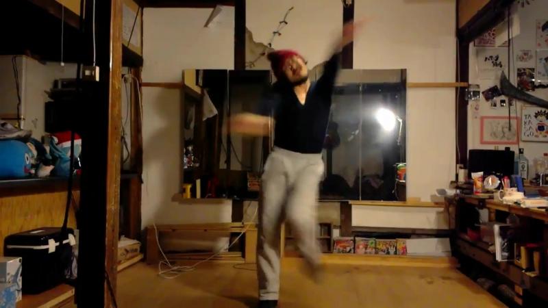 【ハマーダ練習日記】__今日は踊ってみた広場のリクエストにあった_おねがいダーリンを練習れんしゅううぅ_一回覚えたけど復習重要だね!!_なんとなくシャツインして ( MQ )