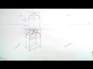 14 - 6. A Trefoil Arch and a Ogee Arch drawn in Perspective Part 2