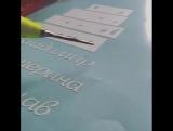 Вот так происходит #выборка #наклейки после #плоттерной #резки
