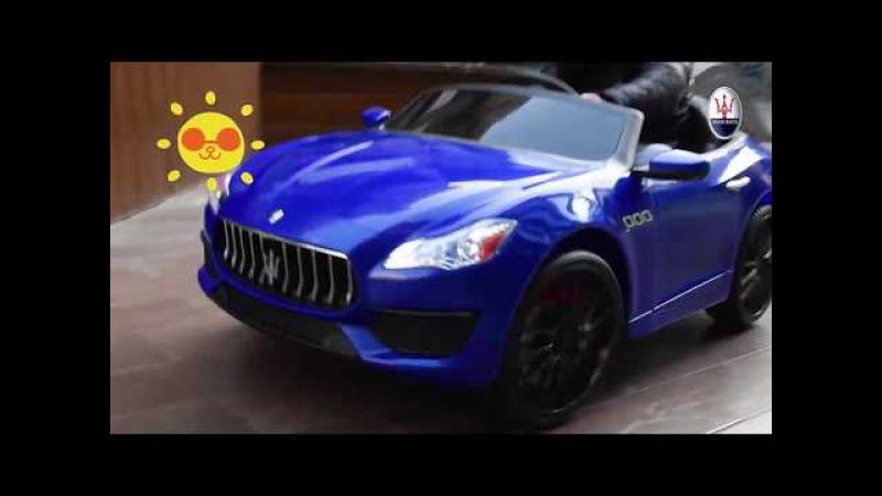 Новинка детский электромобиль Maserati ZLG 8588 скоро в продаже - raspashonka.ua/