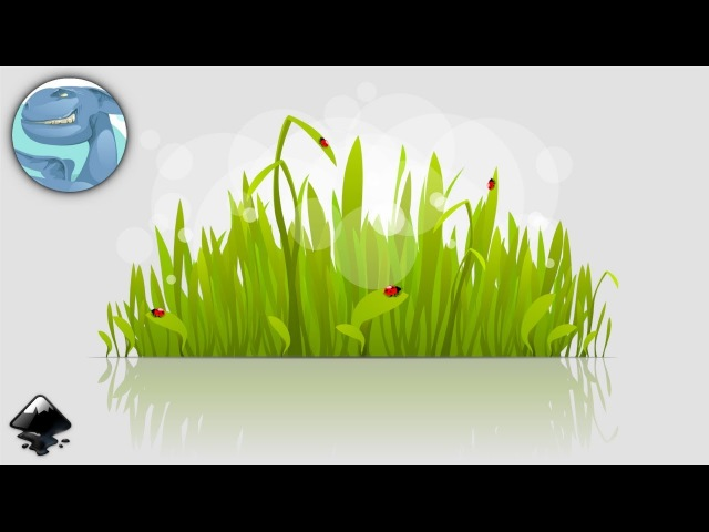 Grass with ladybugs. Speed art in Inkscape.