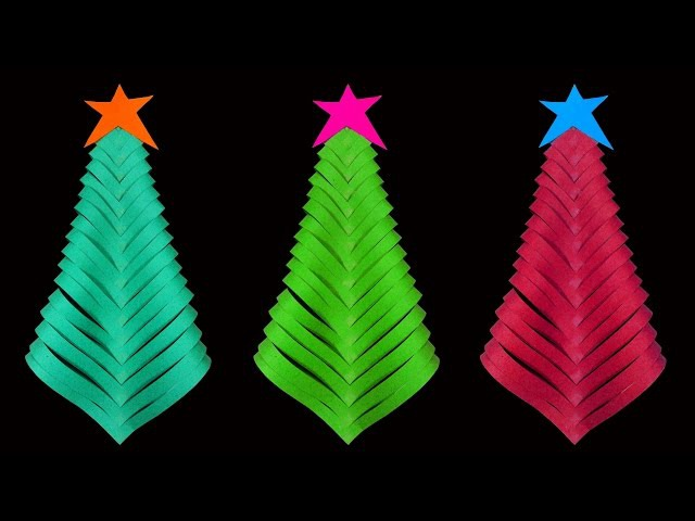 How To Make A Simple and Beautiful Paper Christmas Tree (Christmas Crafts) : HD