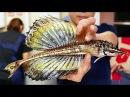Японская уличная еда – Рыба-дракон. Сашими. Морепродукты Sailfin Poacher
