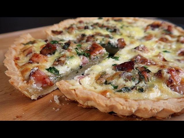 Киш Лорен Рецепт открытого пирога на песочном тесте с сыром