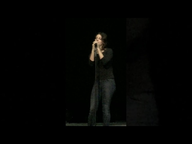 Lana Del Rey — In My Feelings (A сapella 1st time), live at O2 Academy Brixton, London, 2017