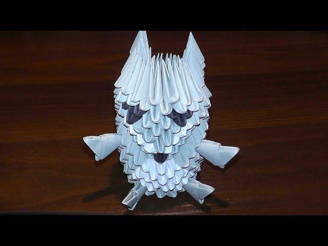 Модульное оригами волк пошаговое изготовление (мастер класс)