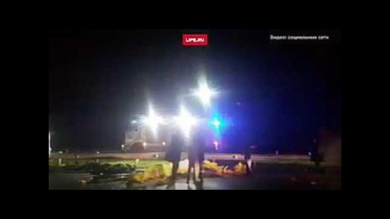 Видео с места смертельной аварии под Калининградом
