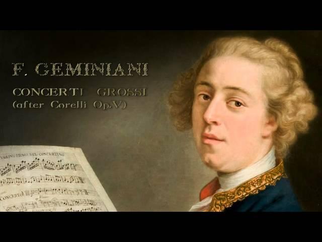 F Geminiani Concerti Grossi after Corelli Op V