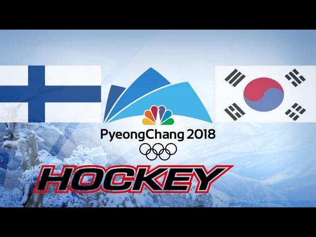 FINLAND vs SOUTH KOREA , 1/8, Olympics Game 2018, Highlights Hockey...