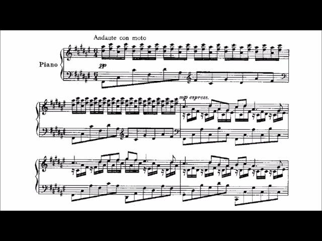 Mischa Levitzki - The Enchanted Nymph (audio sheet music)