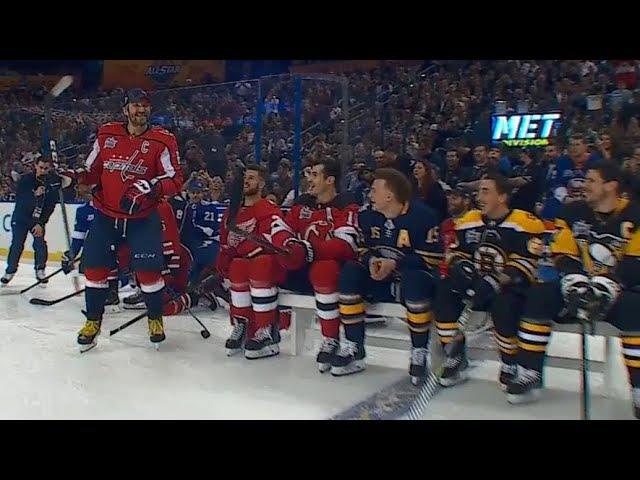 Ovechkin wins 2018 NHL All Star hardest shot with 101 3 MPH blast