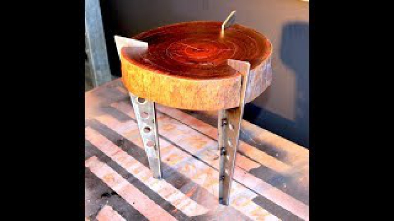 Make a Timber Slab Side Table - Forme Industrious