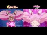 Crystal vs Original Sailor Senshi Transformations