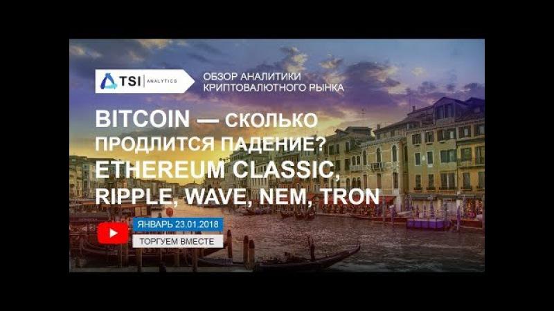 Bitcoin — где предел падения? Ethereum Classic, Ripple, Waves, NEM, TRON   Прогноз Криптовалют