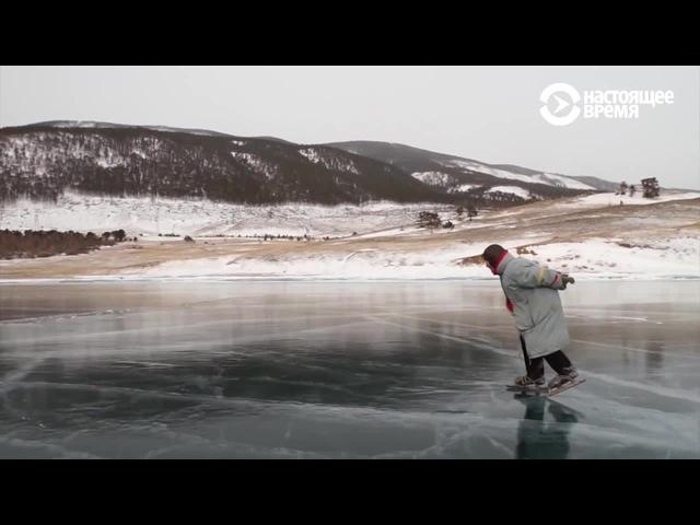 Baba Luba - Baikal speed skater 76 years old
