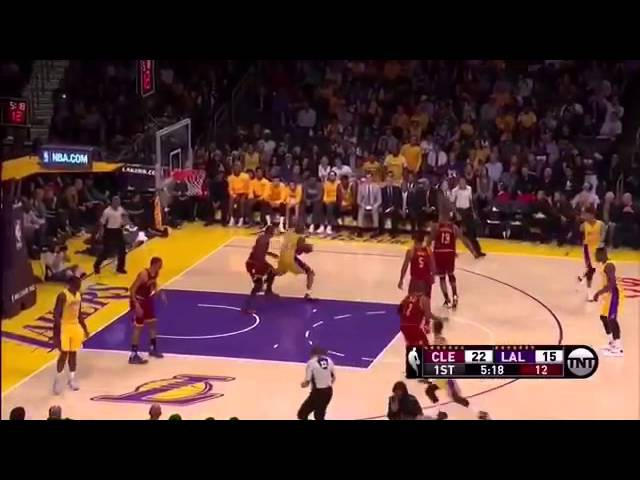 Kobe Bryant Post Fake and Step Through on LeBron James