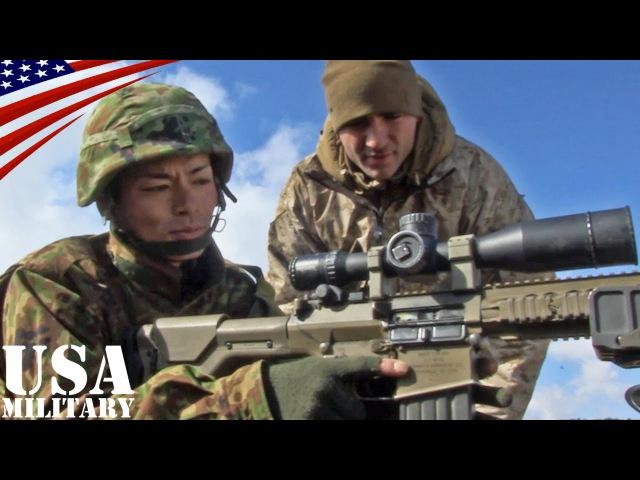 陸上自衛隊・第1空挺団 米軍スナイパーライフル体験(M110・M40) - Japanese Airborne Brigade how to use US Sniper Ri