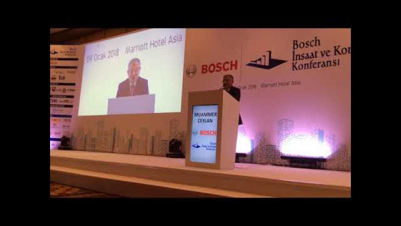 Muammer Ceylan, Bosch İnşaat ve Konut Konferansında konuştu