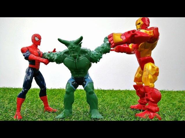 Человек Паук и Железный Человек против Гоблина. Видео на английском языке.