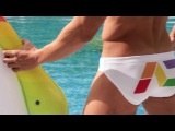 ADS122 RAINBOW SWIM BRIEF ADDICTED SWIMWEAR