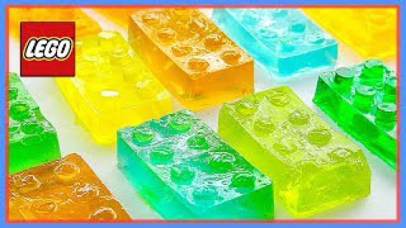 Learn Colors For Kids With Building Cute Jelly Blocks