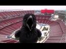 Crow videobombing camera at football stadium! EPIC VIDEO BOMB