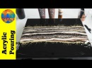 (127) Elegant metallic dirty pour on a black negative space background | Acrylic Pouring