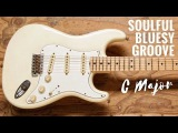 Soulful Bluesy Groove  Guitar Backing Track Jam in C