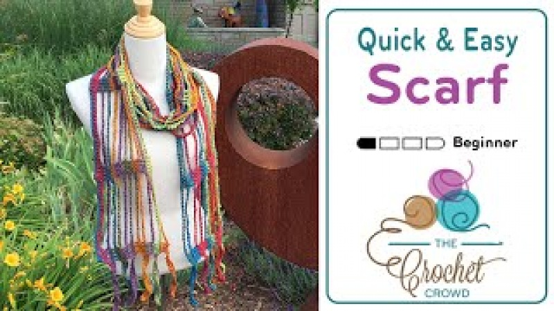 How To Crochet A Scarf: Quick Easy