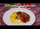 Tallarines a la Huancaína con Lomo Saltado