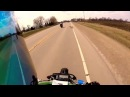 Motorcycle Hits DOG 3 riders Down and Almost Get Hit by SEMI