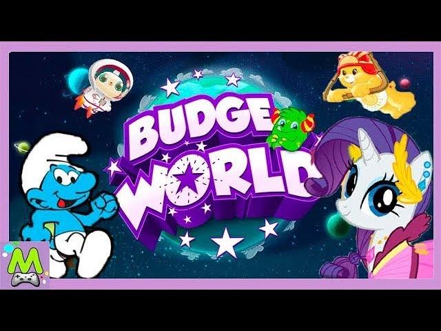 Герои Любимых Мультиков на Планете Budge World.Интересные Игры со Всеми Героями в Мире Баджеров.