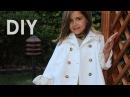 Abrigo de piqué blanco Patrones de abrigo