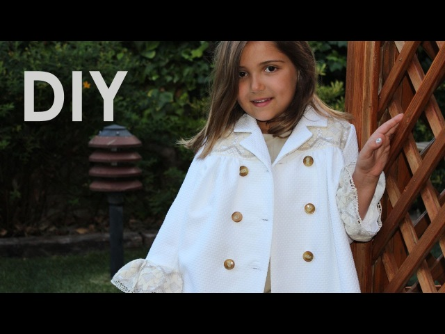 Abrigo de piqué blanco. Patrones de abrigo.
