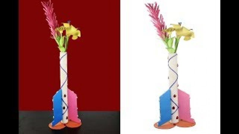 DIY:How to make flower vase with cardboard   Home decorative vase using recycled cardboard
