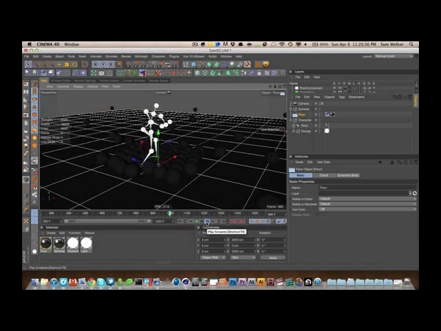 Cinema 4D Tutorial 24: Introduction to Motion Capture in C4D with the Kinect