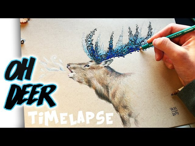 ANOTHER DOODLE DEER Timelapse Drawing