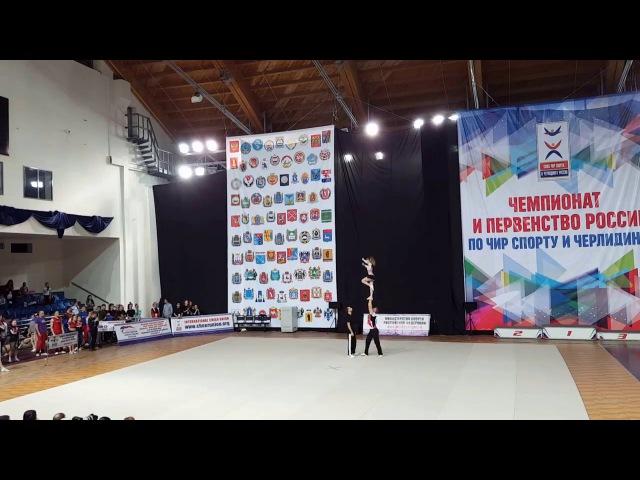 Cheerleading . Партнерский стант -Юрков Алексей/Фокас Елена.