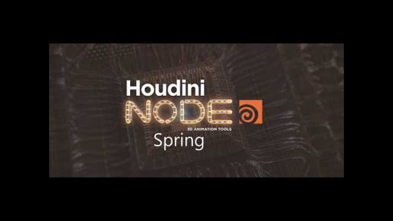 Houdini Spring node tutorial (RUS) Peeling effect
