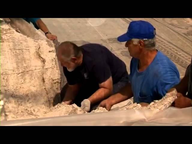 Открытие древне- римской мозаики в городе Лод