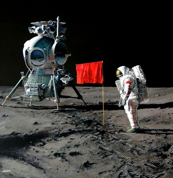 Картинка русские на луне